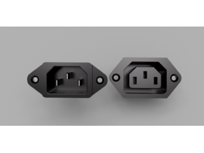 Panel Mountable Kettle Plug Male and Female IEC C13 and C14