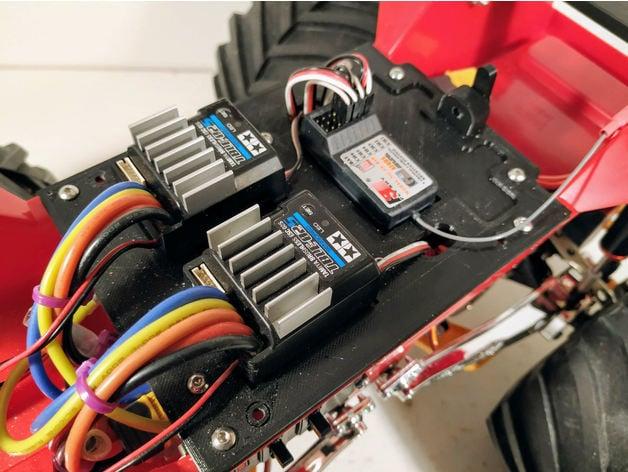 Clodbuster Twin ESC + LiPo Mount by Beige