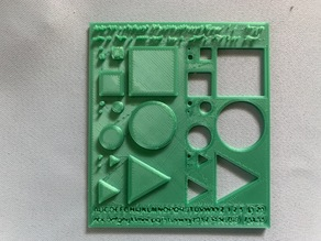 Test the performance of 3D printer, simple, easy and numeric