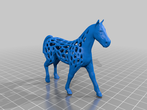 Voronoi style horse model-wall thickness 2 mm