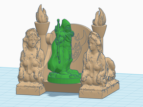 Sphinx Throne (Devil/Angel) for 28mm gaming