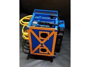 Modular Raspberry Pi 2, 3, 4 Rack