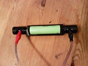 18650 charge helper with safety caps (M5 screws) -- 18650 Ladehilfe mit Sicherheitskappen (M5 Schrauben)