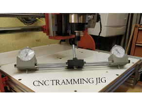 CNC Spindle Dial Gauge Tramming Jig