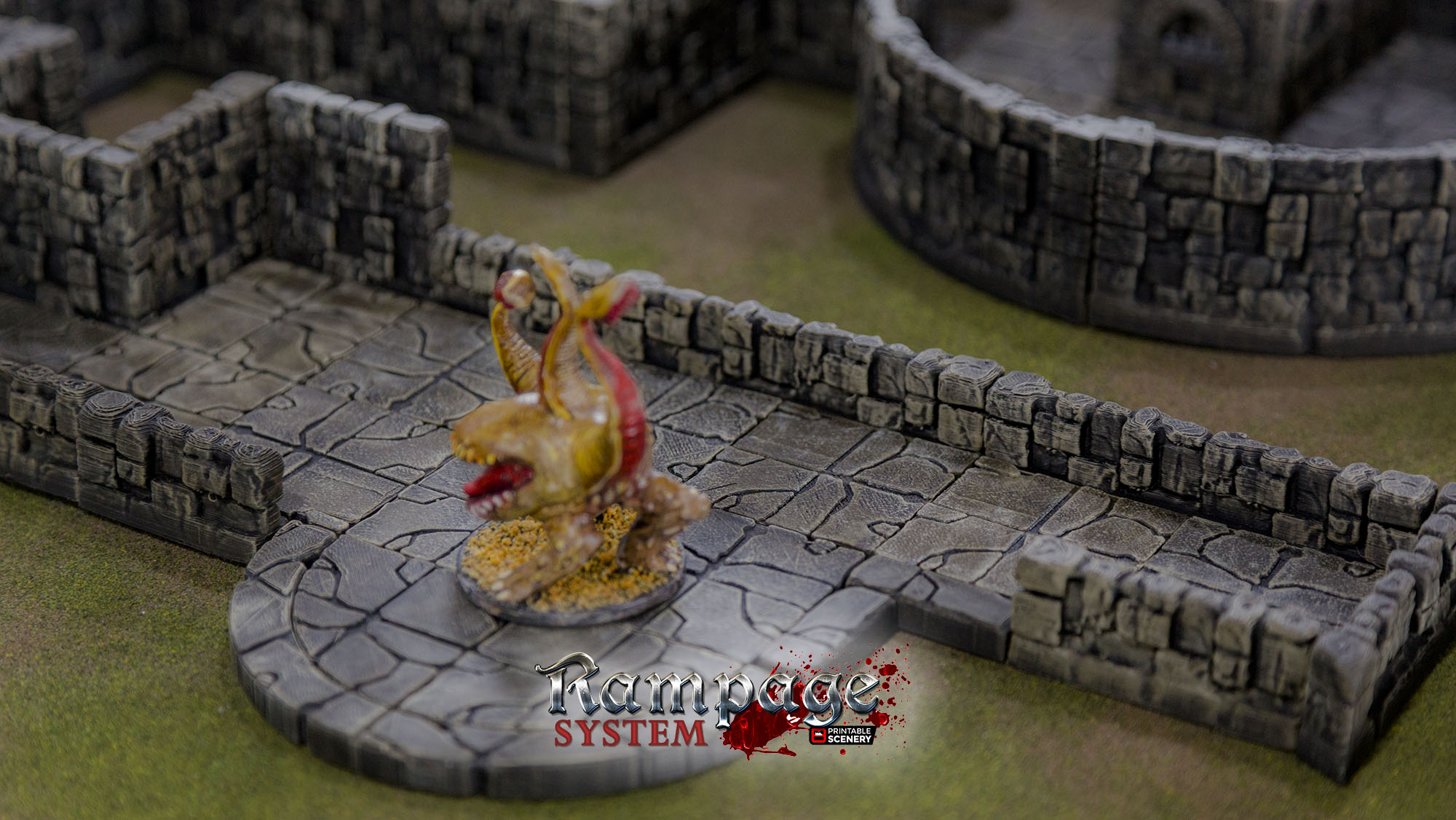 Rampage Dungeon Tiles Basic Set By Printablescenery