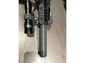 Flash hider with fast removing Supressor