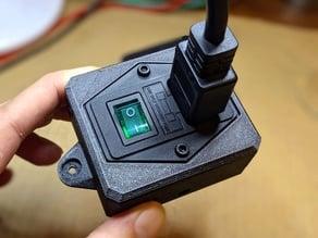 Fused C14 switch box (green)