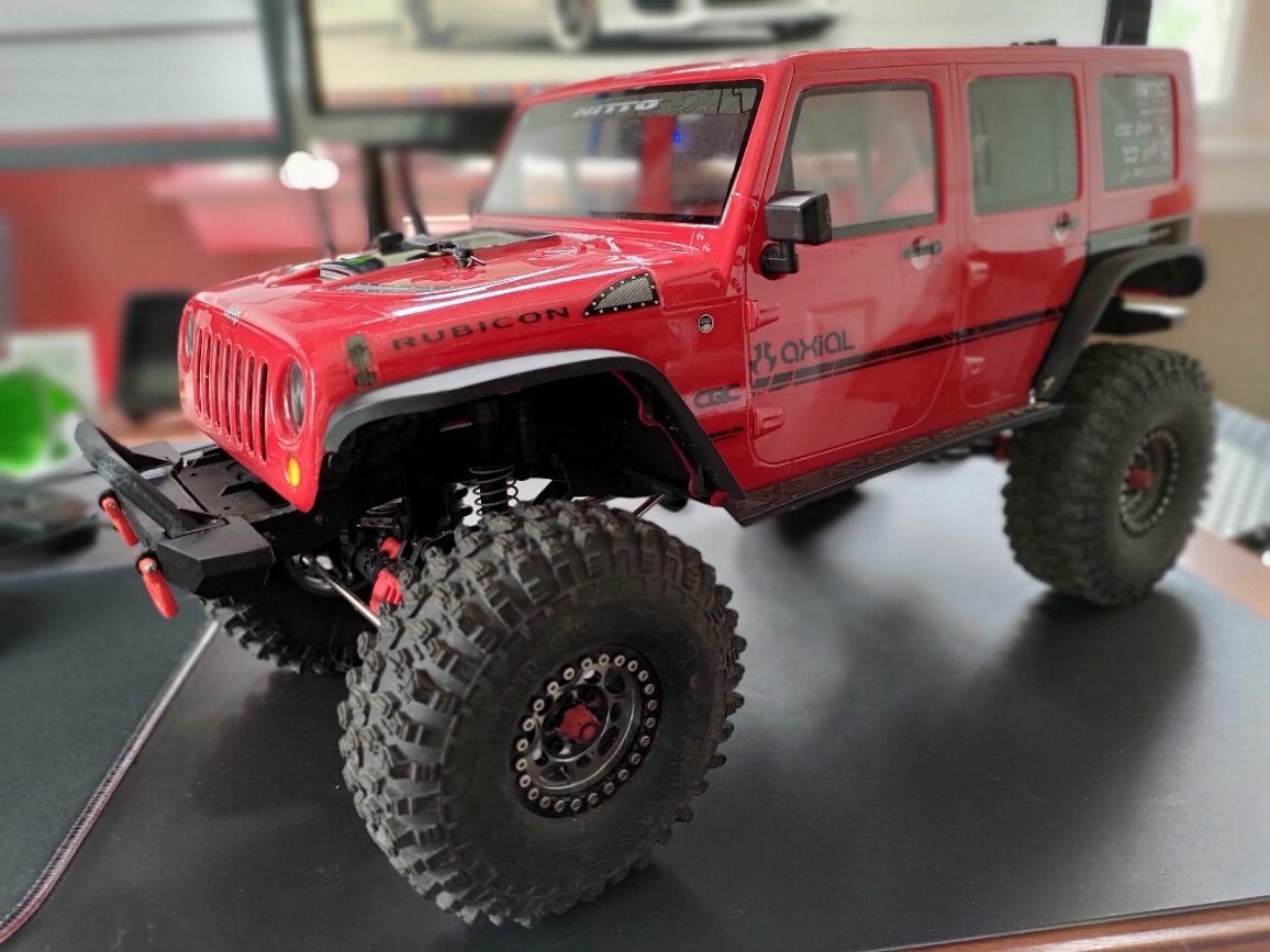 Refined Jeep Wrangler front bumper with Bull Bar for SCX10
