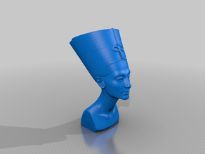 BUST OF NEFERTITI Reduced Mesh and sliced to print