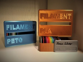 Filament sample with box