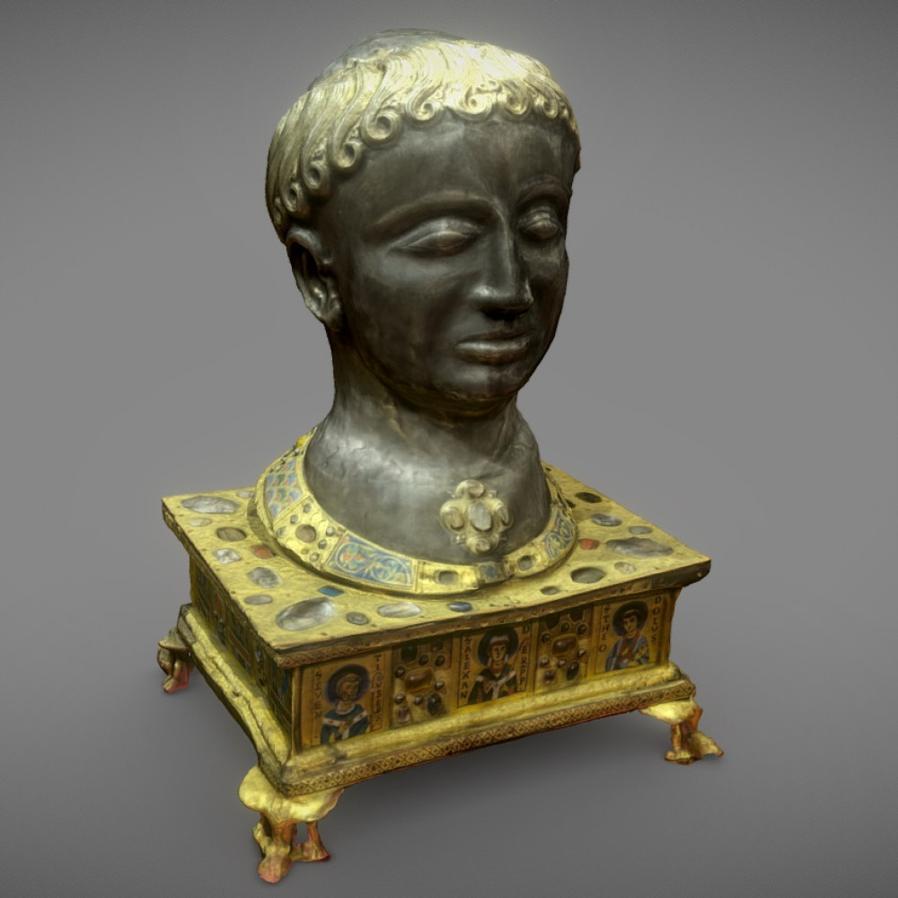 Reliquary head of the pope Alexandre
