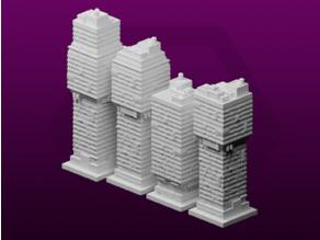 GreebleCity Cyberpunk: Modular Tower