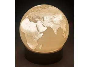 Earth Lithophane Lamp