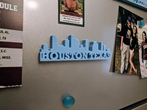 Texas City Skylines (Magnetic or Stand-Along)