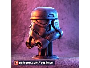 Stormtrooper Helmet on Piedestal (fan art)