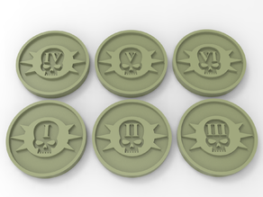 Death Guard Objective Markers