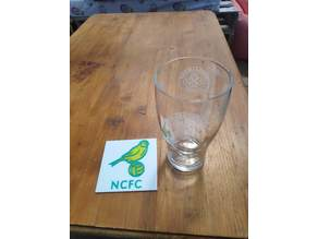 Norwich City canary beermat
