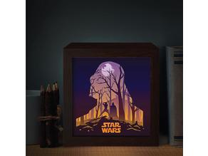 star wars lamp ligthbox