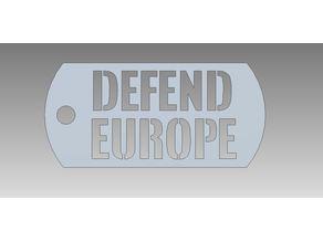 Defend Europe Dog Tag