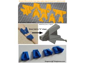 Simple Bias Tape Maker tool, zakladac pasku - 3cm / 3.5cm / 4cm (1,5 in) / 5cm