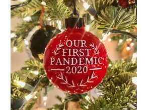 2020 Holiday Ornament - Our first pandemic