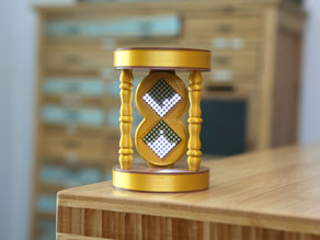 LED Matrix Hourglass Physics Sand Toy