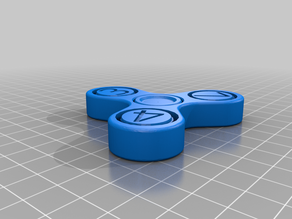math fidget spinner (print in place)