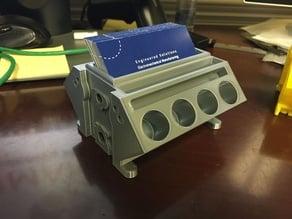 V8 Engine Block Card Holder