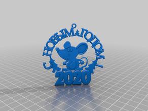 2020 Новогодняя мышь
