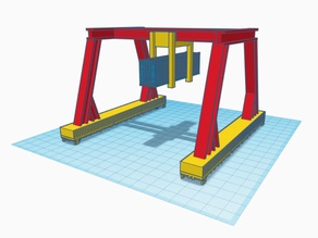 N-Scale Container Crane