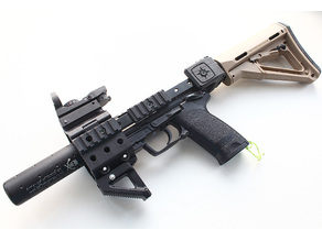 Carbine kit (with M4 stock) for Airsoft hundgun