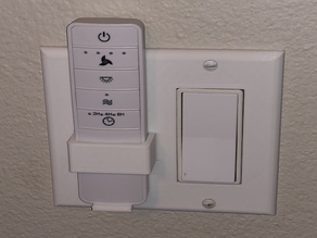 Light Switch Plate with Remote Holder