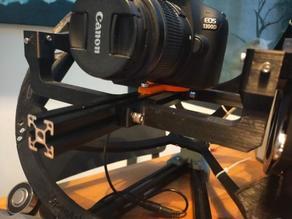 DSLR camera holder for Aluminium extrusion profile