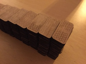 Dominoes Double 16 for laser cutting