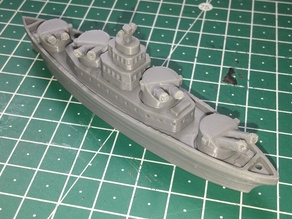 Detailed Battleship with stronger rotating turrets