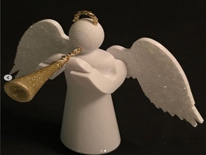 Angel Ornament with Trumpet