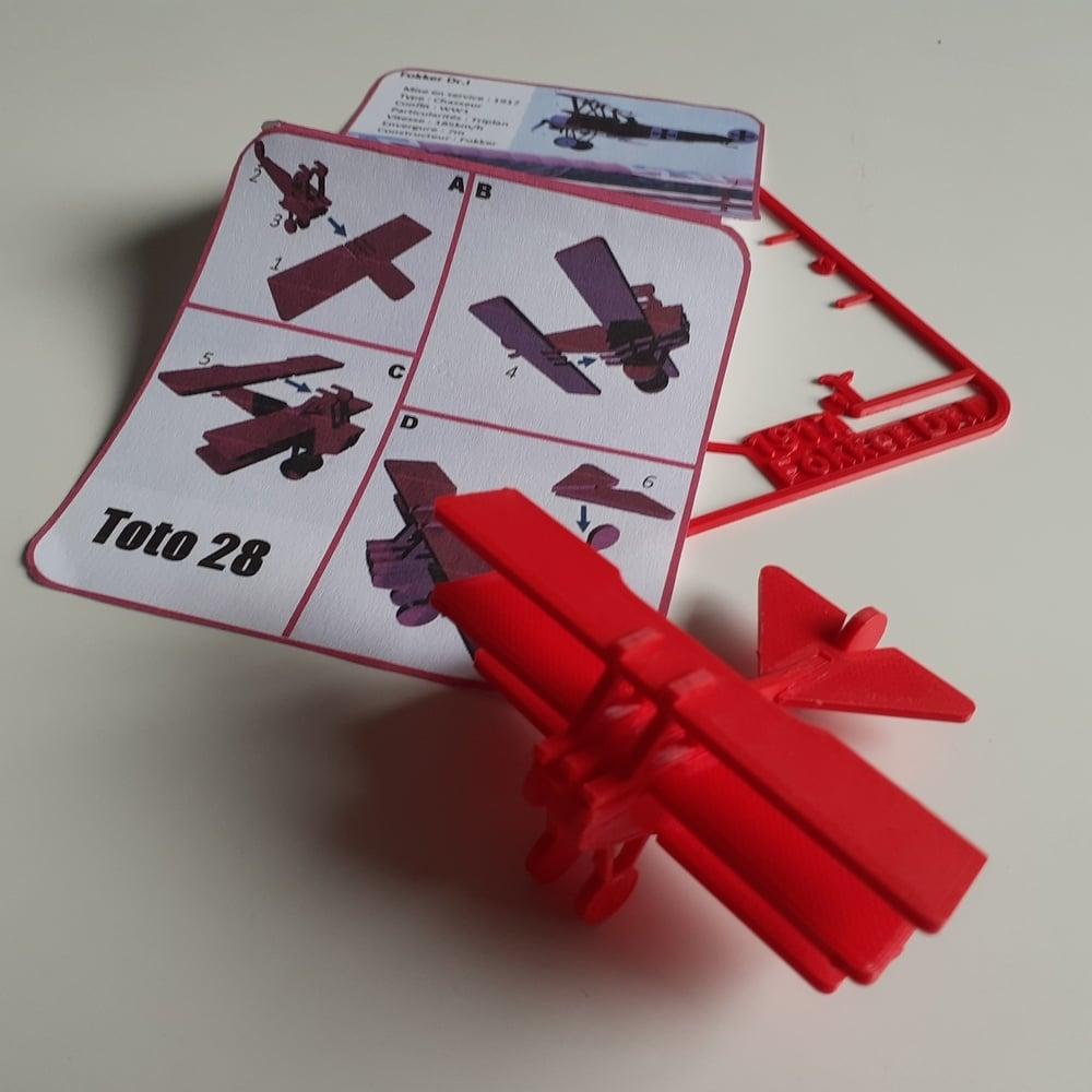 FAMOUS PLANES - Fokker Dr.I kit card