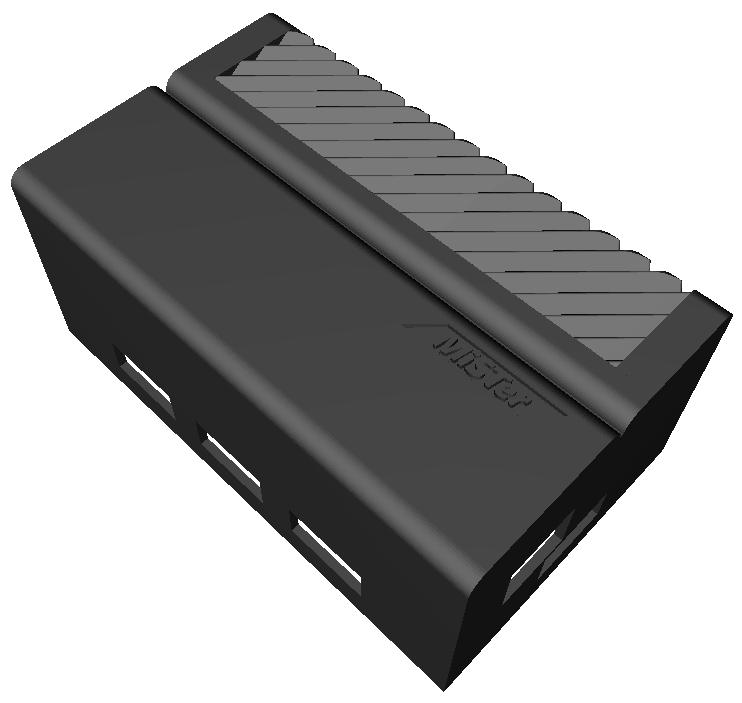 Atari style MiSTer Case (de10-nano + USB Hub 2.1)