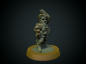 Fancy gnome 28mm (no supports, FDM)