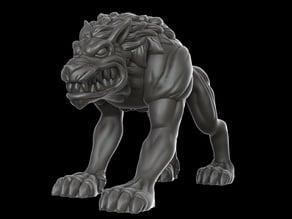 Hellhound (28 mm DnD miniature)