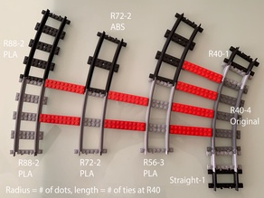 TRAIN TRACKS COMPATIBLE WITH LEGO® TRAIN TRACKS