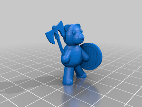 Teddy Bear with War Axe