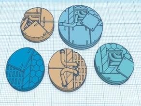 Sci Fi Miniature Bases (Open Panels)