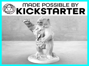 Bear - Action Pose - Tabletop Miniature