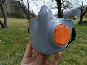 NanoHack, an open-source 3D printed mask against COVID-19 by Copper3D