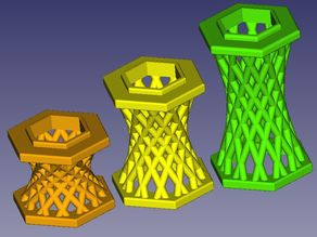 GraviTrax compatible hyperboloid spacer family