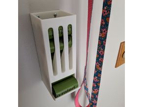 Earth Rated Dog Poop Bags Roll Dispenser - Wall Mounted, No Supports Needed