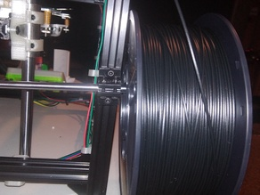 Super simple spool holder for 8mm rod and 2020 or 2040 aluminum extrusions.