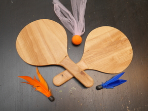 Paddles for use with Goodminton or Jazzminton birdies