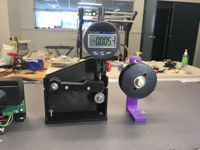Filament Diameter (thickness) Measurement (sensor) for DIY Extruder, Dial indicator mount